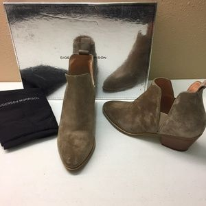 Sigerson Morrison Brown Suede Booties 6M